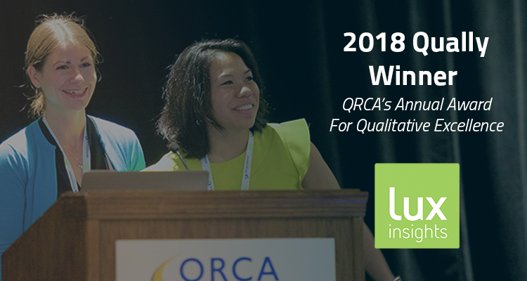 Lux Wins the Qually, QRCA's Annual Award for Qualitative Excellence